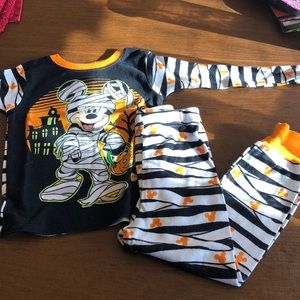 Disney Mickey Mouse Halloween PJ set 4T